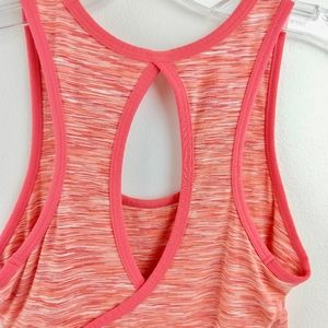 Lucy Tops - Lucy Space Dyed Active Wear Tank Keyhole Back XS